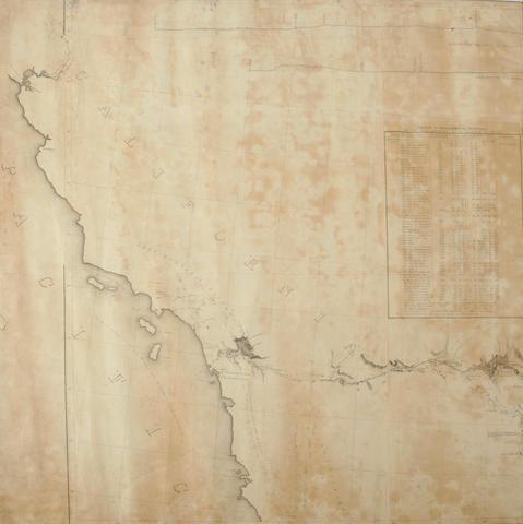Reconaissance map of the Gila River, AZ. Arkansas Rio del Norte. Rolled. 26640.