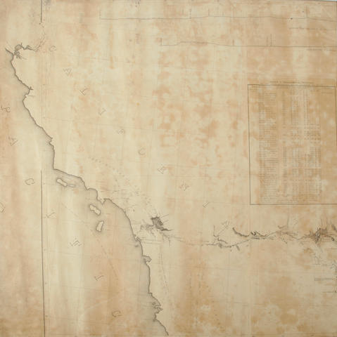 Reconaissance map of the Gila River, AZ. Arkansas Rio del Norte. Rolled. 26640.