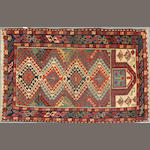 A Shirvan rug size approximately 3ft. 2in. x 4ft. 10in.