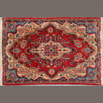 A Hamadan rug size approximately 2ft. 3in. x 3ft. 5in.