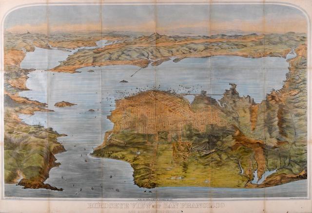 GODDARD, G.H. Bird's Eye View of San Francisco. 1880.