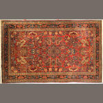A Kashan rug size approximately 4ft. 1in. x 6ft. 8in.