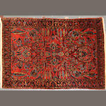 A Sarouk rug  size approximately 3ft. 6in. x 5ft. 2in.