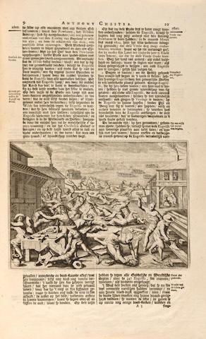 [JAMESTOWN.] Scheeps-togt van Anthony Chester na Virginia, gedaan in het Jaar 1620. Leyden: Pieter Vander A<sub>A</sub>, [1707].<BR />