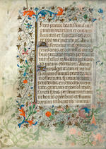 Small illuminated manuscript leaf