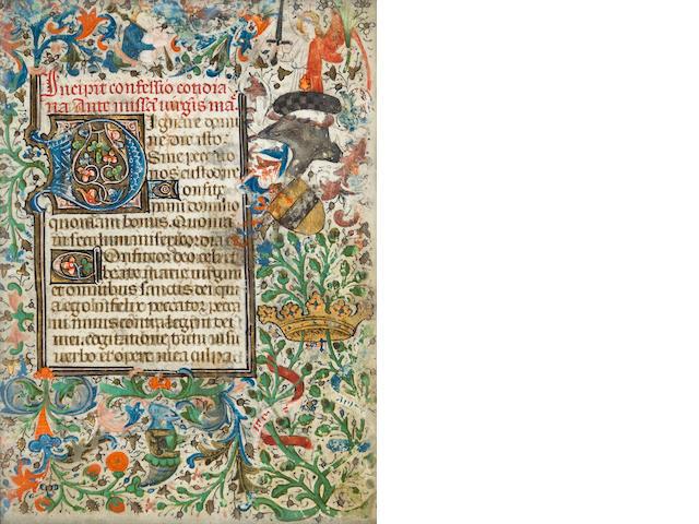 Small illuminated manuscript leaf