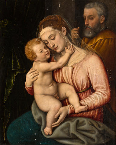 Bolognese School, 17th Century Madonna and child 25 3/4 x 20 1/4in (65.5 x 51.5cm)
