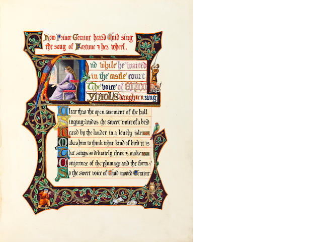 CALLIGRAPHY. Tennyson & Keble. Signed by Keele.