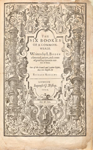 Bodin, Six Books, 1606
