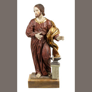 A Spanish Colonial polychrome figure of Christ