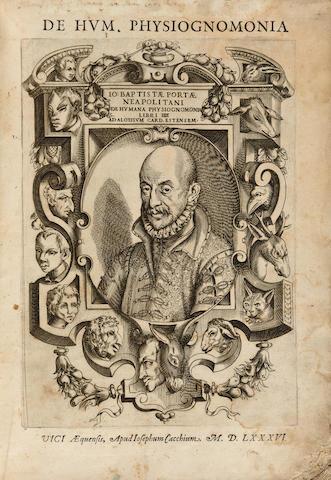 PORTA, GIOVANNI BATTISTA DELLA. 1538-1615. De humana physiognomonia. Vico Æquense: J. Cacchius, 1586.