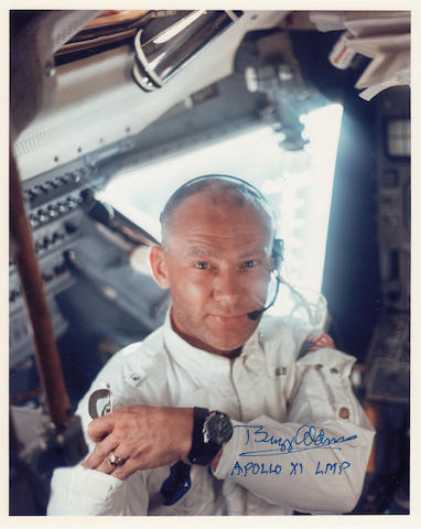 ALDRIN PREPARES THE LM FOR LANDING