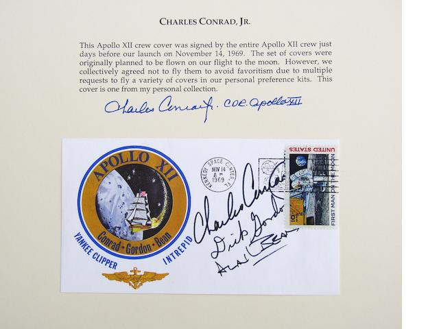 CONRAD'S SCHEDULED TO BE FLOWN POSTAL COVER
