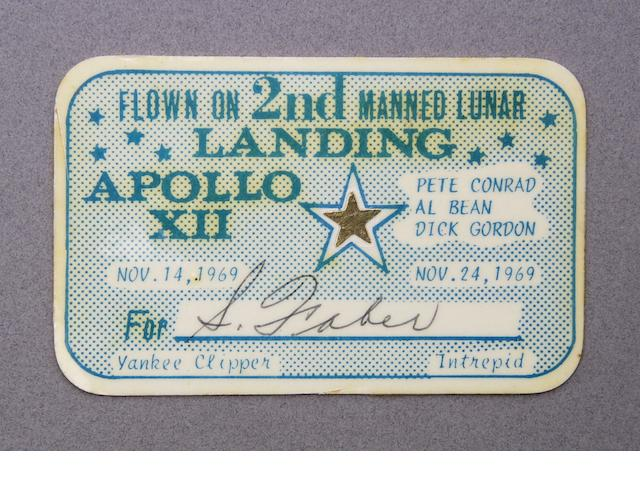 FLOWN APOLLO 12 GOLD STAR
