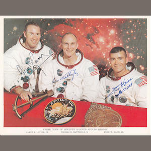 THE ORIGINAL APOLLO 13 ASTRONAUTS – CREW SIGNED