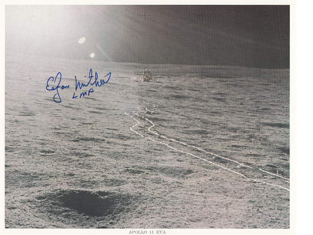 FIRST WHEEL TRACKS ON THE MOON - SIGNED