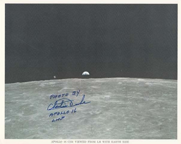 EARTH RISE FROM LUNAR ORBIT – PHOTOGRAPHER SIGNED