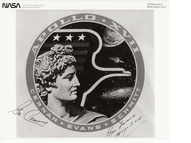 THE LAST APOLLO CREW EMBLEM – SIGNED.