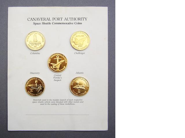 CANAVERAL PORT AUTHORITY MEDALLIONS CONTAINING LAUNCH METALS