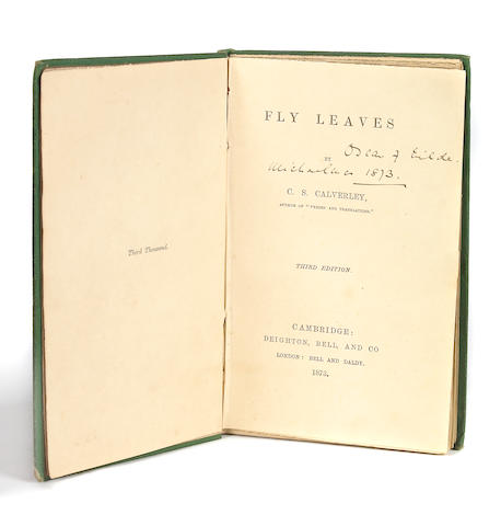 [WILDE, OSCAR] CALVERLY, Fly Leaves