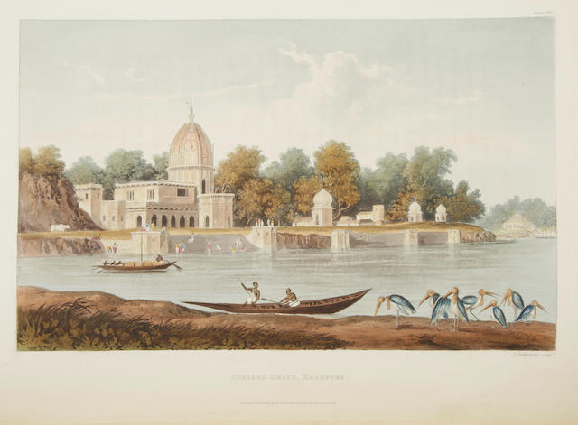 FORREST, LIEUTENANT-COLONEL [CHARLES RAMUS]. 1750-1827. A Picturesque Tour along the Rivers Ganges and Jumna, in India. London: R. Ackerman, 1824.<BR />