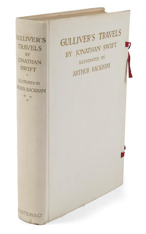 RACKHAM, ARTHUR, illustrator. SWIFT, JONATHAN. Gulliver's Travels into Several Remote Nations of the World. London/New York: J.M. Dent/E.P. Dutton, 1909.