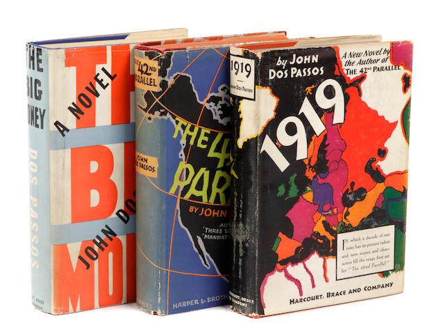 DOS PASSOS, JOHN. U.S.A. Trilogy 3 vols