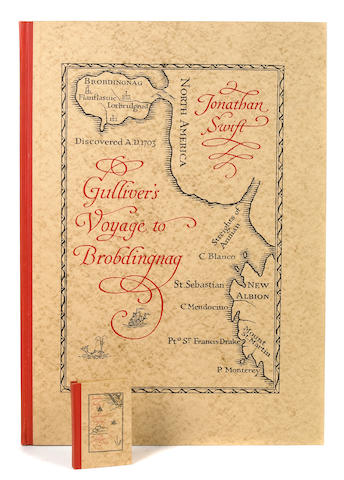 SWIFT, JONATHAN. 1667-1745. A Voyage to Brobdingnag made by Lemuel Gulliver in the Year mdccii [and] A Voyage to Lilliput.... New York: Limited Editions Club, 1950.