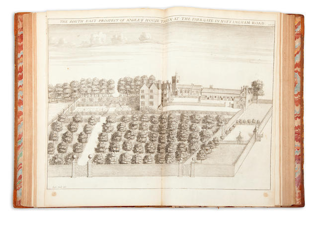 THOROTON, ROBERT. The Antiquities of Nottinghamshire.  London: Printed by Robert White for Henry Mortlock, 1677.<BR />