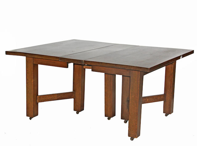 An Arts and Crafts trestle table