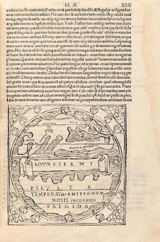 MACROBIUS, AMBROSIUS THEODOSIUS. In somnium Scipionis expositio. - Saturnalia. Venice: Philippus Pincius, October 29, 1500.