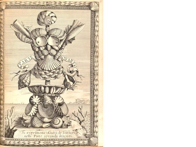 CONCHOLOGY. BUONANNI, FILIPPO. 1638-1725. Ricreatione dell'occhio e della mente nell'osservation delle chiocciole. Rome: Varese, 1681.