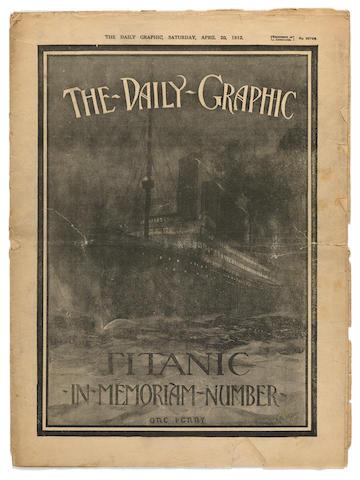 [TITANIC] The Daily Graphic  Saturday, April 20, 1912 16-3/4 x 12-1/4 in. (42.5 x 31.1 cm.)