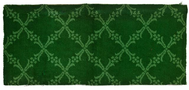 A section of carpet from the <i>R.M.S. Titanic</i>