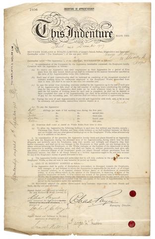 Harland & Wolff Ltd. riviter sheet