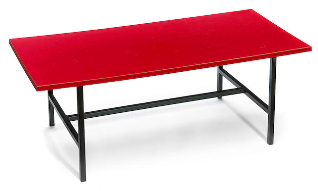 A Modern laminate and steel low table attributed to Alain Richard, circa 1959