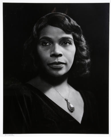 Yousuf Karsh (Canadian, 1908-2002); Marian Anderson; (1)