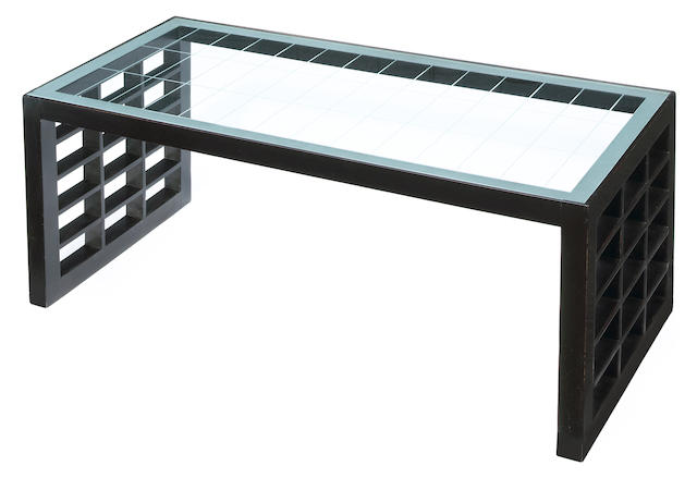 An ebonized wood coffee table Melchiorre Bega, circa 1935