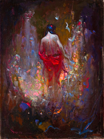 Richard Alan Schmid (American, born 1934) Nude 24 x 18in