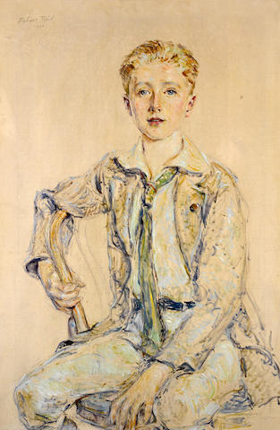 Robert Reid (American, 1862-1929) Portrait of a boy, 1920 36 x 24in