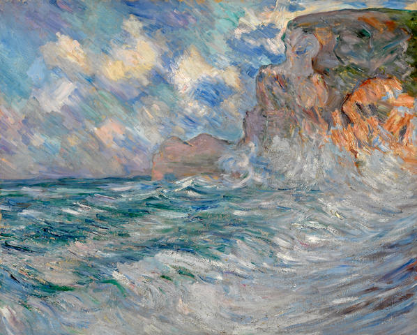 Lilla Cabot Perry (American, 1848-1933) Cliffs at Etretat 25 3/4 x 32in