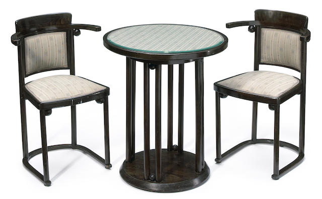 A suite of Josef Hoffmann bentwood furniture early 20th Century