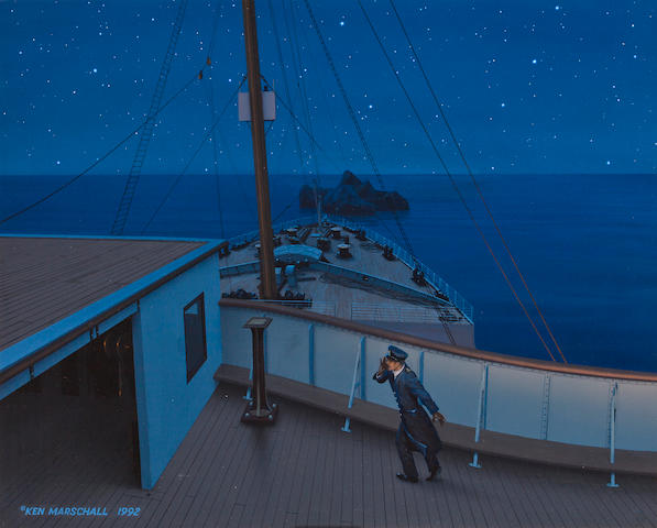 Ken Marschall painted for Marschall's book Titanic: An Illustrated History