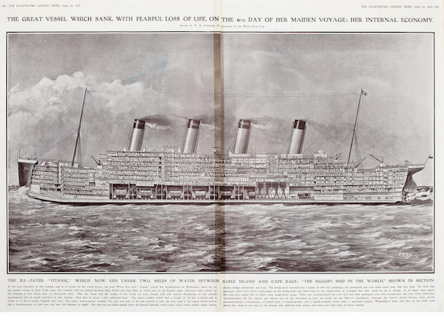 The Illustrated London News Cross-section of the Titanic