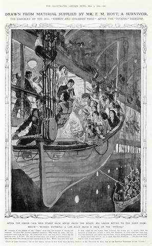 [TITANIC] The Illustrated London News  May 4, 1912 15 x 9-1/4 in. (38.1 x 23.5 cm.) sight.