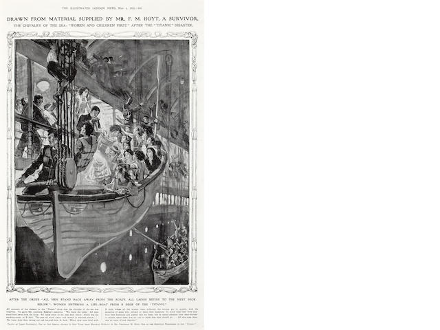 The Illustrated London News Titanic life boat drawing