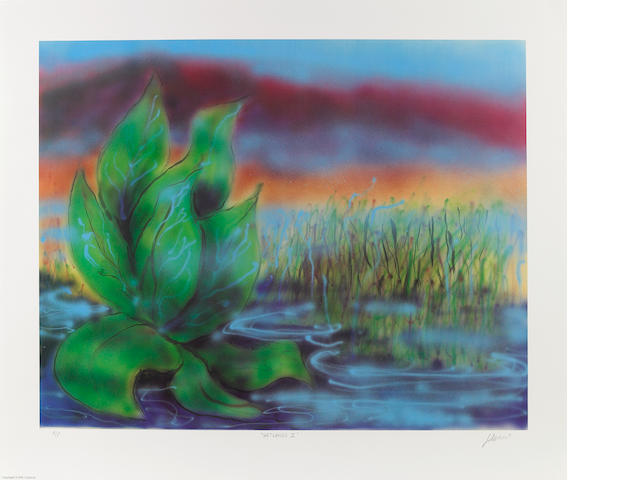 Jerry Garcia, lithograph Wetlands II