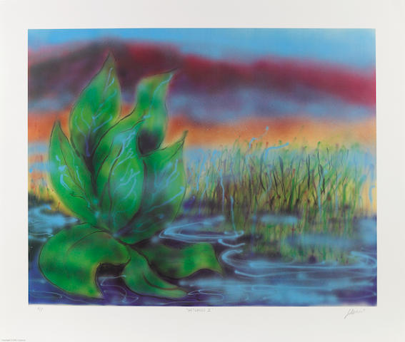 Jerry Garcia, lithograph Wetlands II