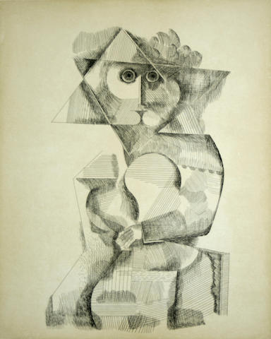 Jean David (Israeli, 1908-1993); Untitled (Figure);