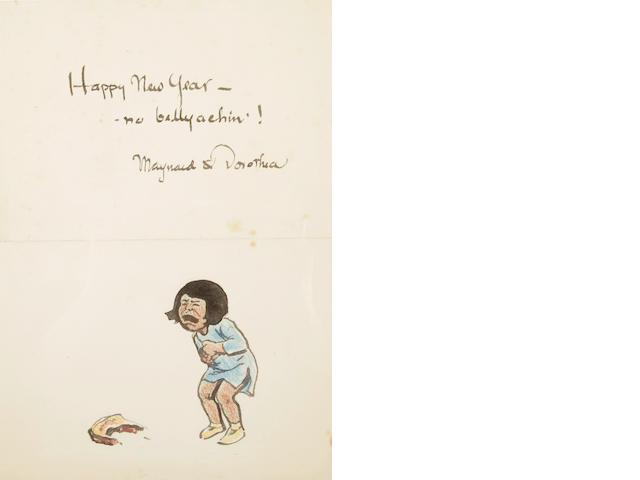 Maynard Dixon 'Happy New Year' card